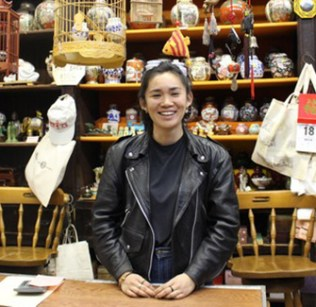 Mei Lum in her store Wing on Wo