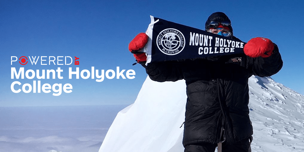 Catherine Gibson '77 atop Mount Vinson
