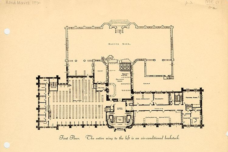 1935: First Floor library floor plan