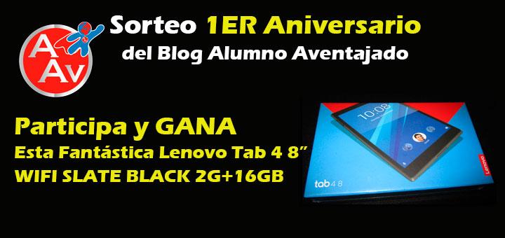 Participa en este Sorteo del Blog Alumno Aventajado y Gana una Fantástica Tablet Lenovo 4 de 8″