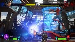 Pelea entre Thor y Spiderman en Marvel vs Capcom Infinite