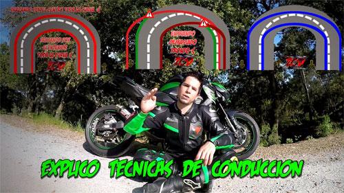 ZoD Z explicando nuevas técnicas de conducción en moto.