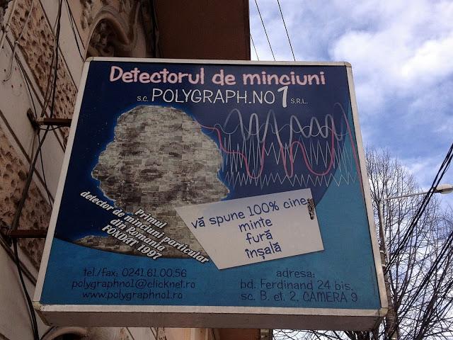 Detectorul de minciuni din Constanța