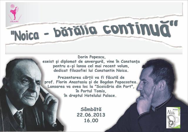 """Lansare de carte """"Noica – bătălia continuă"""" @Căldură"""