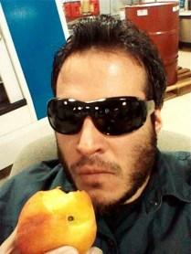 Self Portrait with Peach