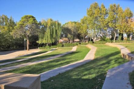 Gradas en Parque San Sebastián de Navalcarnero