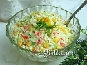 Салат из крабовых палочек с рисом - Рецепты для мультиварок