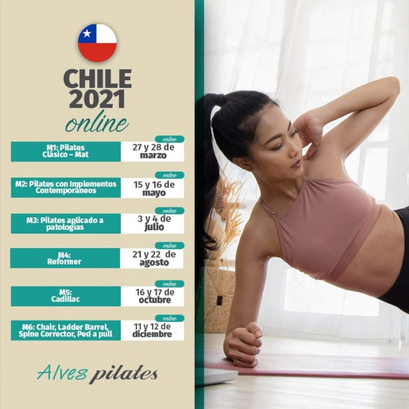 Curso pilates chile online 2021