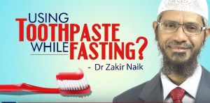 toothpaste while fasting