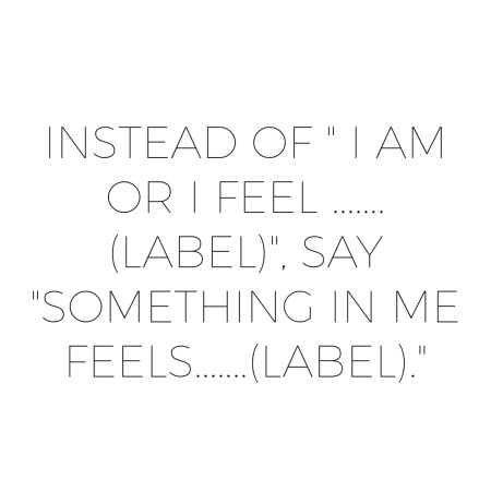Judging Yourself By Labeling