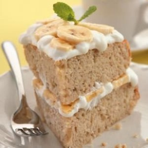 Banana Cream Layer Cake - Eathing Well