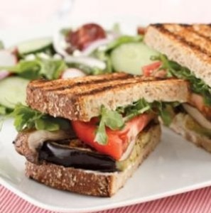 Grilled Eggplant and Portobello Sandwich - Eating Well