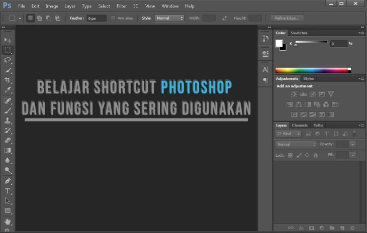 Belajar Shortcut Photoshop dan Fungsi Yang Sering Digunakan Untuk Desain Grafis
