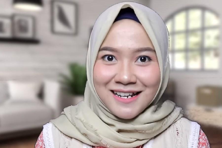 Tutorial Hijab Segi Empat untuk Wajah Bulat Selesai Pipi Temben Akan Terlihat Lebih Tirus dan Cantik