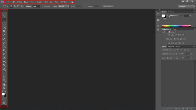 Tampilan Photoshop CS 6