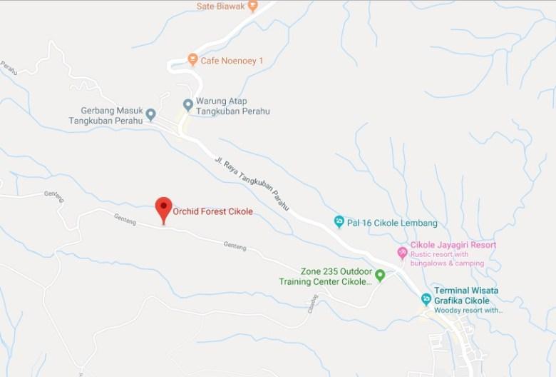 Alamat dan Peta Lokasi Orchid Forest Cikole Lembang Bandung