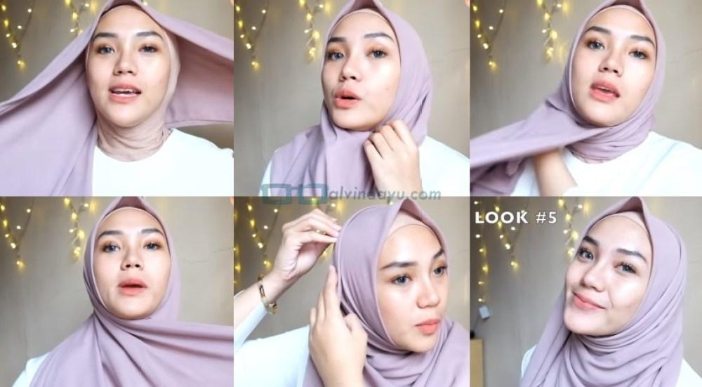 Cara Memakai Jilbab Segi Empat Modis, Sederhana dan Cantik