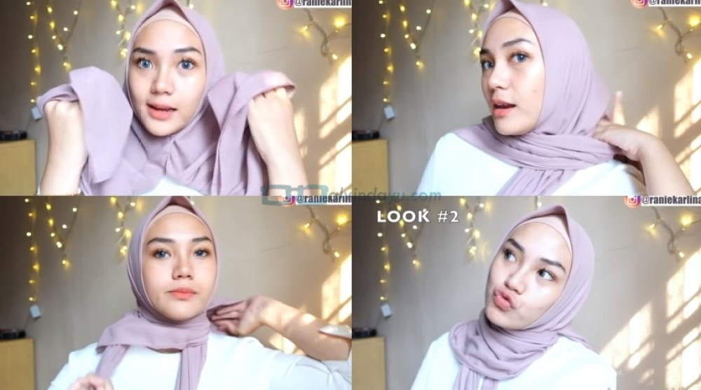 Cara Pakai Hijab Segi Empat Simple dan Cantik Sederhana