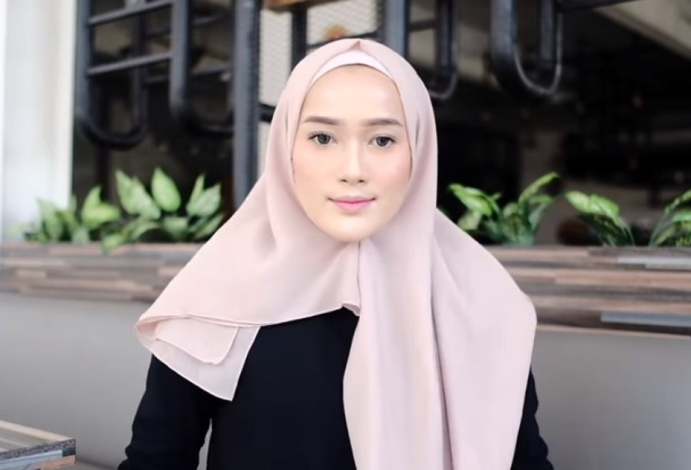 Toturial Hijab Segi Empat Model Pashmina