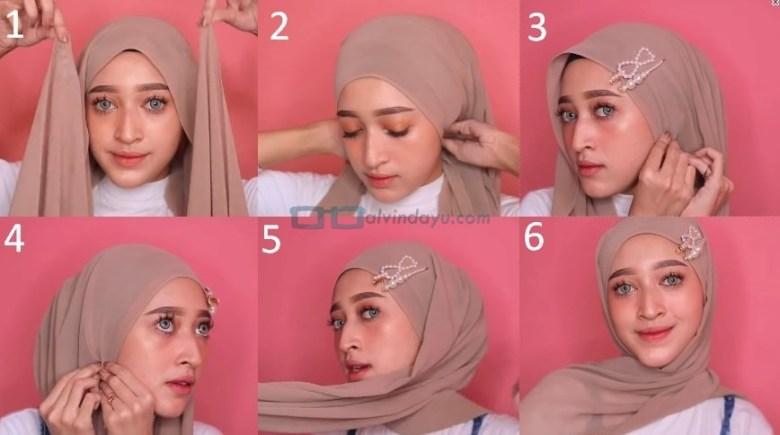 Cara Memakai Jilbab Pashmina Simple dan Mudah