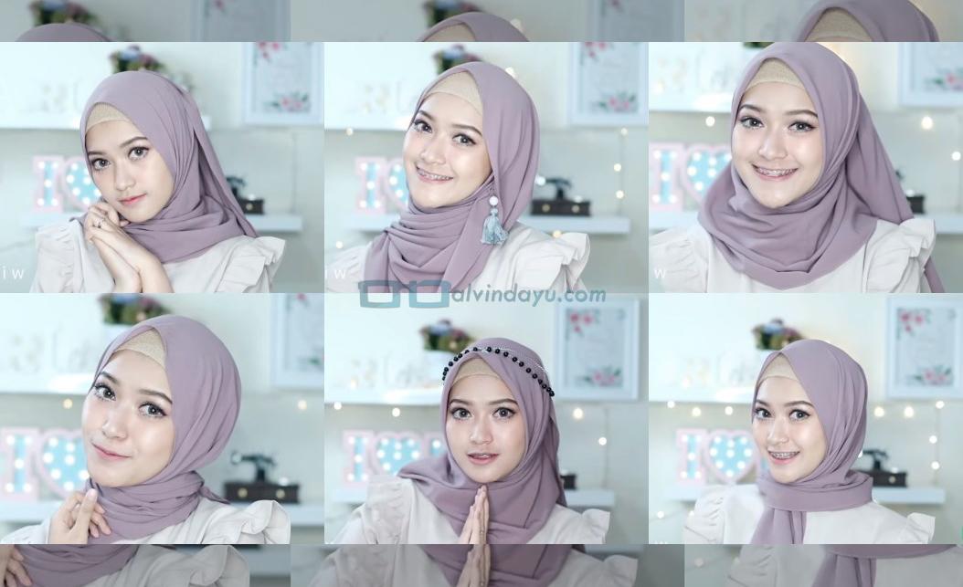 7 Tutorial Hijab Pashmina Pesta Simple Lengkap Dengan Gambar Dan Langkahnya Dyah Ayu Alvinda