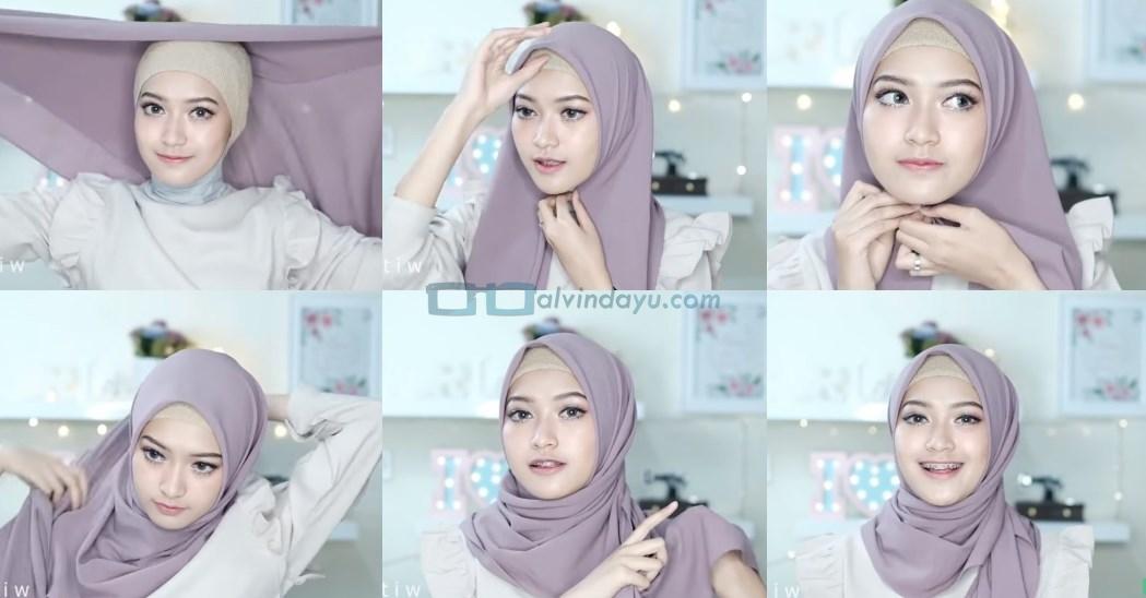 Tutorial Hijab Pashmina Pesta Cantik dan Elegan