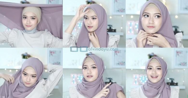 Tutorial Hijab Pashmina Simple Elegan