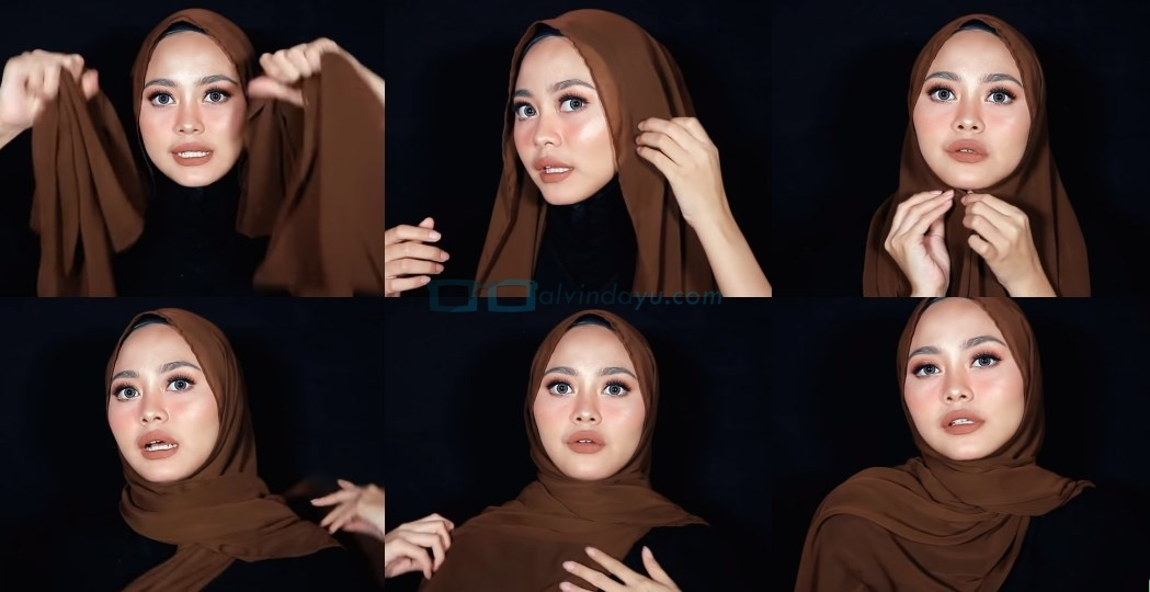 Tutorial Hijab Pashmina Diamond Simple dan Mudah