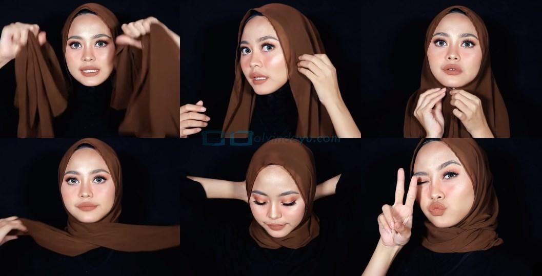 Tutorial Hijab Pashmina Diamond Simple untuk Remaja