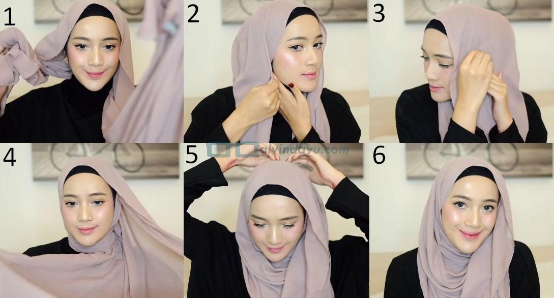 Tutorial Hijab Pashmina Syari