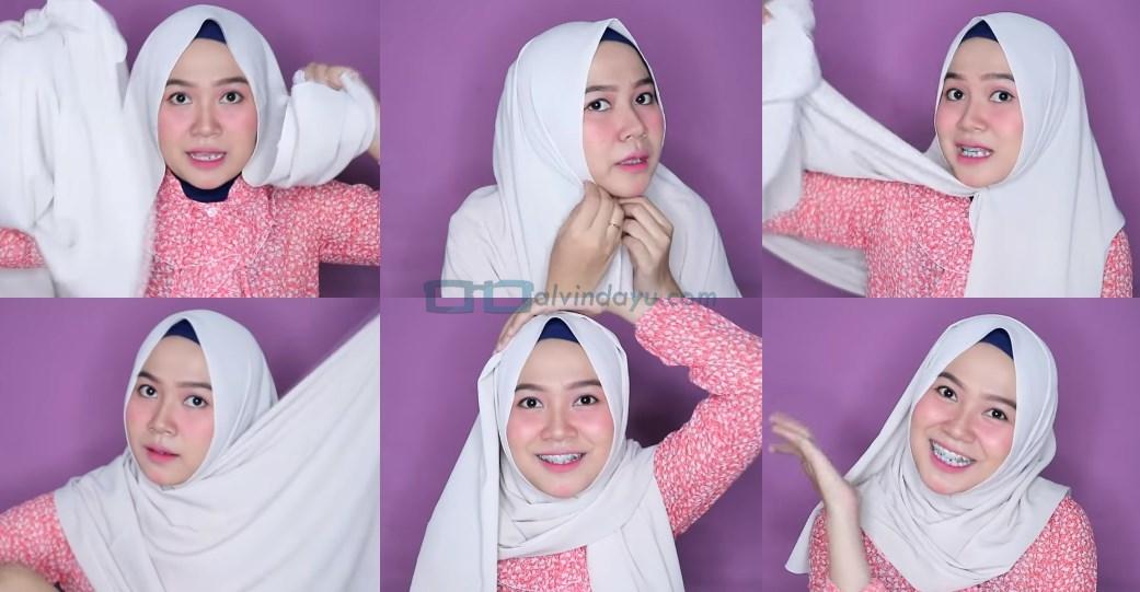Tutorial Hijab Pashmina Wajah Bulat Agar Terlihat Tirus
