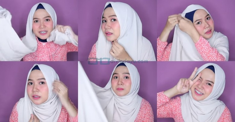 Tutorial Hijab Pashmina Wajah Bulat Simple dan Mudah untuk Remaja