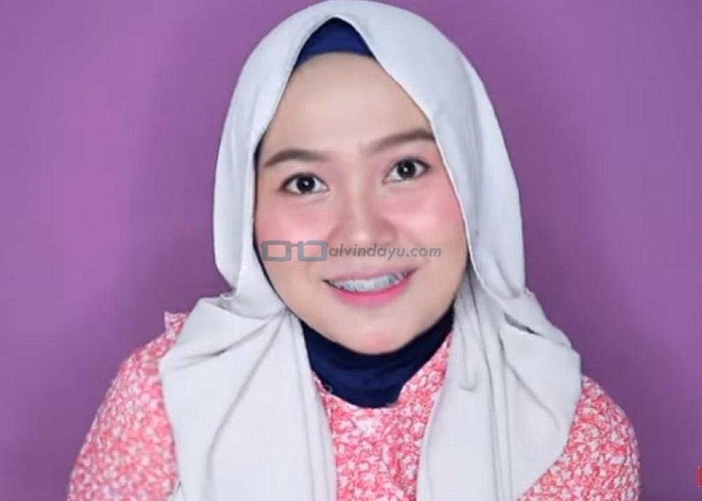 Tutorial Hijab Pashmina Wajah Bulat untuk Pesta SELESAI
