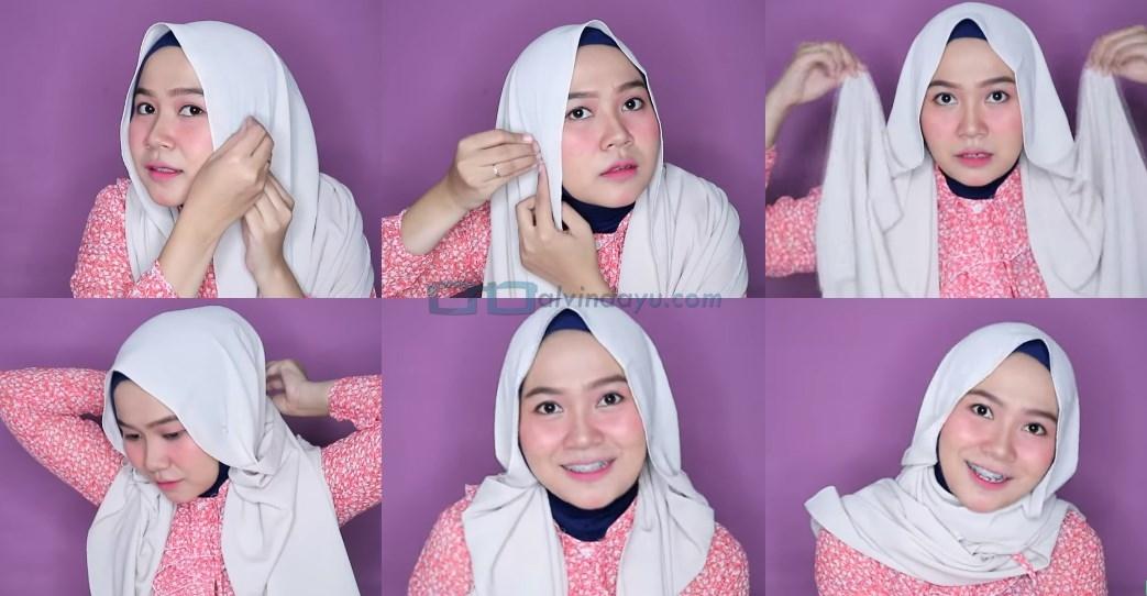 Tutorial Hijab Pashmina Wajah Bulat untuk Pesta
