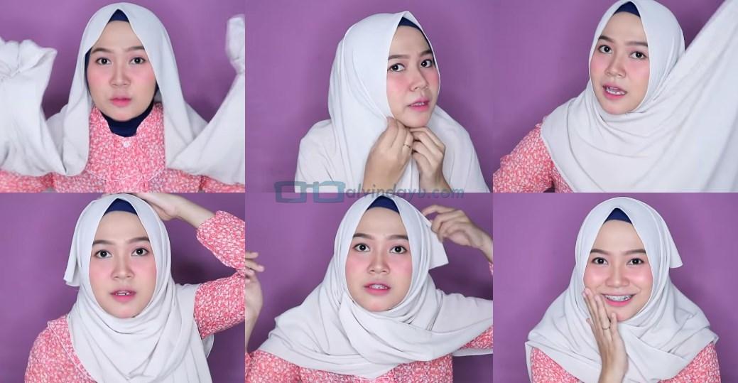 Tutorial Hijab Pashmina untuk Wajah Bulat dan Gemuk Tembem