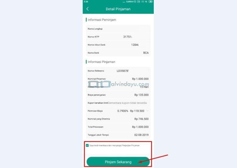 Detail Pengajuan Pinjaman