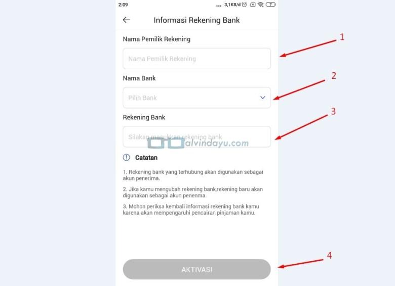 Informasi Rekening Bank