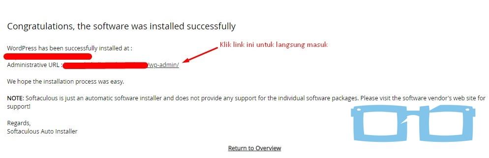 Install WordPress Berhasil