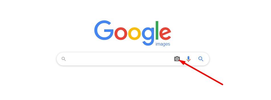 Klik icon kamera pada google image
