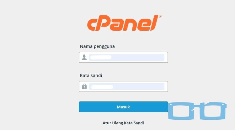 Masuk ke hosting melalui cPenel