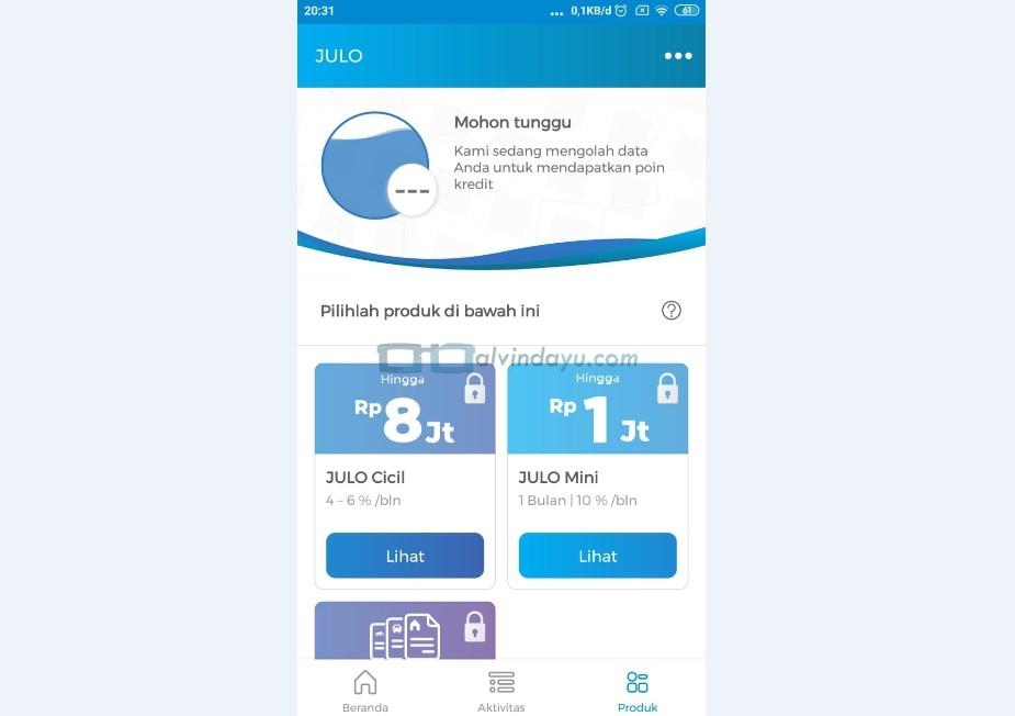 Pengajuan Pinjaman Online di Julo Selesai