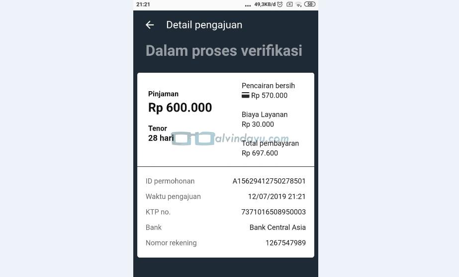 Proses Verifikasi Pinjaman