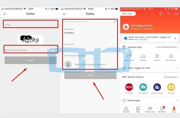Cara Buat Akun Shopee dengan Aplikasi Melalui Email Selesai