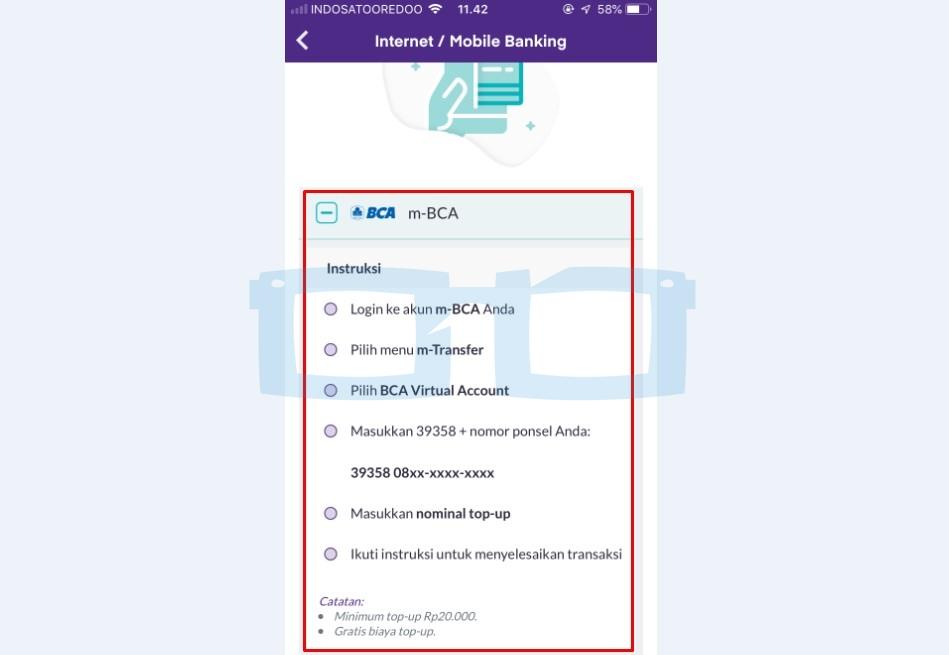 Langkah langkah Cara Top Up OVO Melalui mBanking BCA