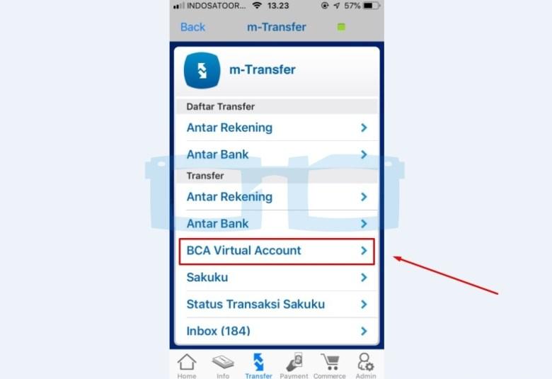 Pilih BCA Virtual Account