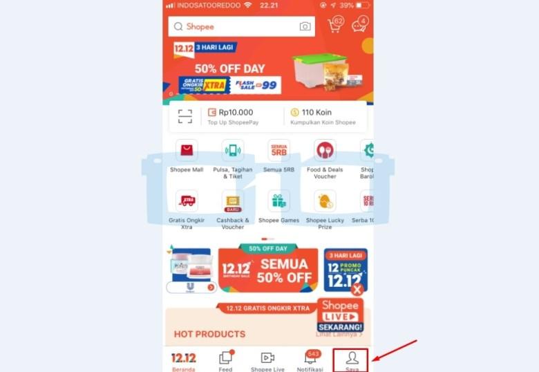 Pilih Menu Saya untuk Chat dengan CS Shopee