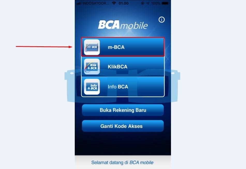 Pilih Menu m BCA