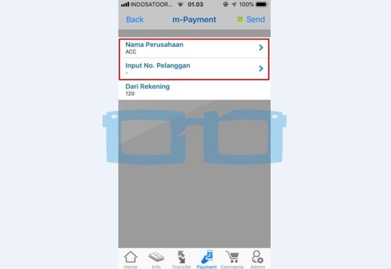 Pilih Nama Perusahaan FIF dan Input Nomor Tagihan Angsuran
