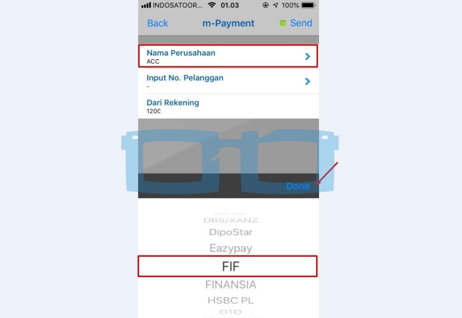 Pilih Nama Perusahaan FIF untuk Bayar Angsuran Melalui mBanking BCA