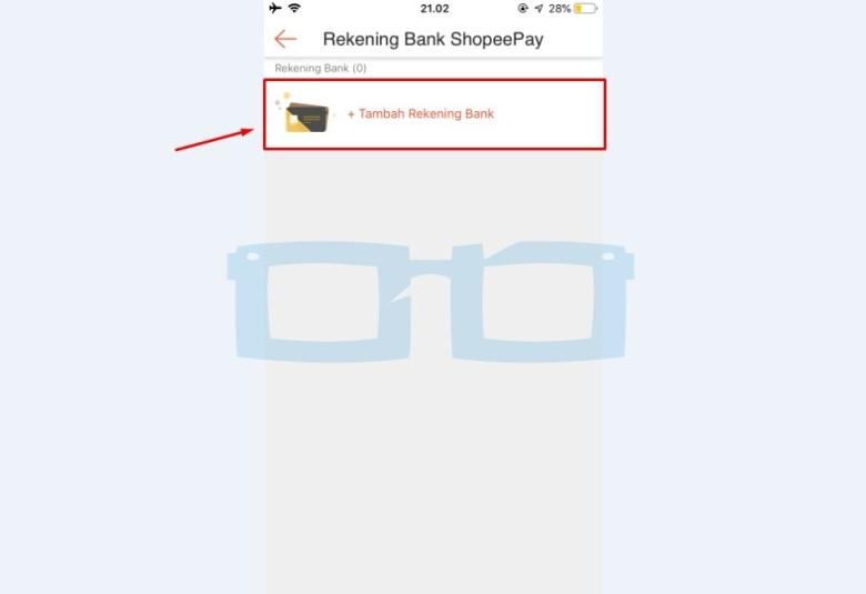 Tambahkan Rekening Bank Shopeepay